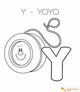 Yoyo Coloring Drawing Alphabet Letter Printable Sheet Drawings Getcolorings Country Through Getdrawings Paintingvalley sketch template