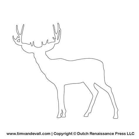 deer template prinable deer silhouette stencil and outline tempalte