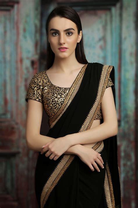 black saree blouse best 25 black saree ideas on