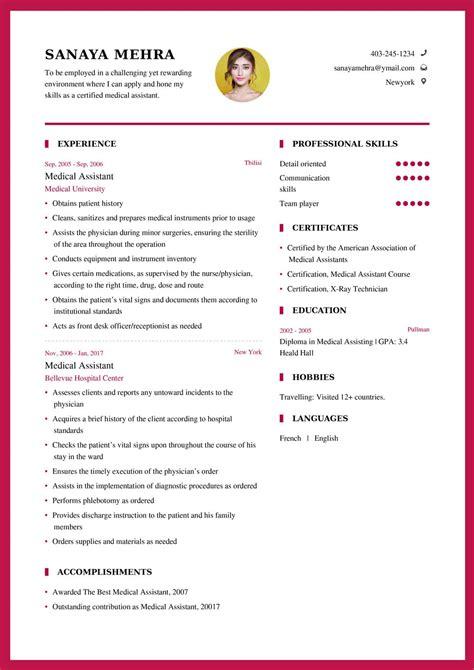 medical assistant resume sample  resume format