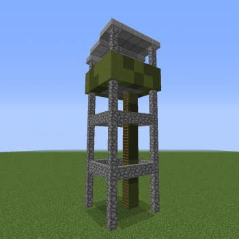 military modern watchtower blueprints  minecraft houses castles towers   grabcraft