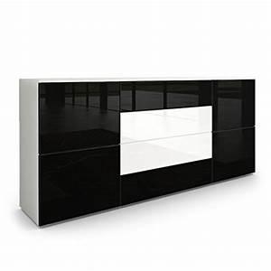 Sideboard Schwarz Weiß Hochglanz : sideboard kommode rova korpus in wei matt fronten in schwarz hochglanz und wei hochglanz ~ Bigdaddyawards.com Haus und Dekorationen