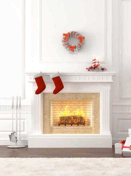 Backdrop With Fireplace by White Fireplace Printed Photography Backdrop