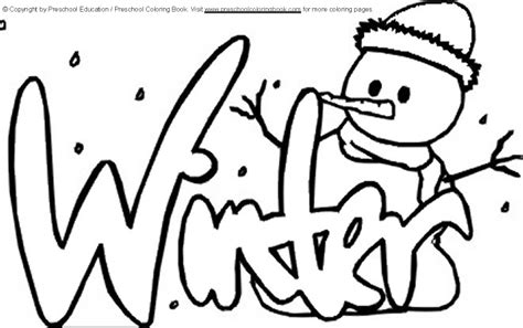 winter coloring pictures www preschoolcoloringbook winter coloring page