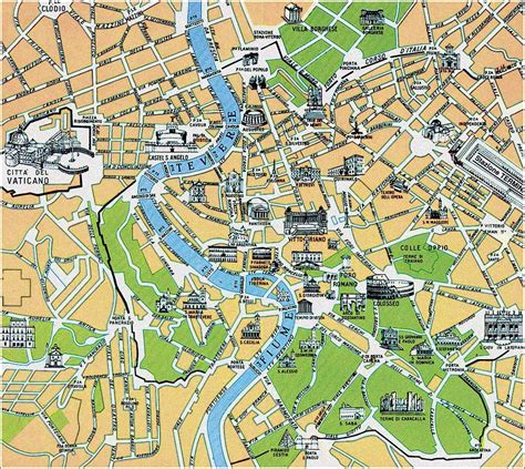map  rome rome maps mapsofnet