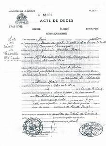 Caribbean living act de deces or death certificate for Haitian birth certificate