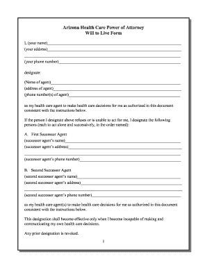 health care power of attorney form arizona printable sudoku grids forms and templates fillable