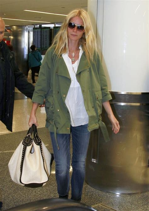 gwyneth paltrow ten ways  wear  military jacket