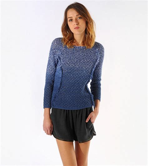 ombre sweater maje avatar ombre fringe sweater in blue lyst