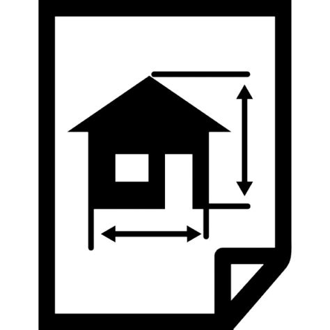 Architecture Draw Of A House On A Paper Icons  Free Download