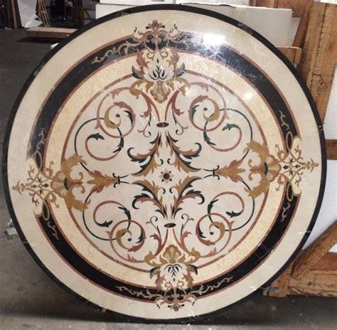 marble medallion santa ana marble medallion 60 quot round glamour flooring