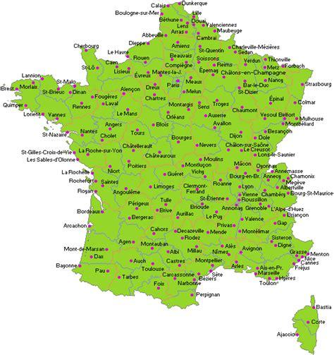 Carte De Avec Principales Villes A Imprimer by Cartograf Fr Pays Cartes De Regions Et Departements