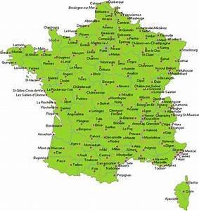 Map Of France   Departments Regions Cities