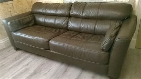 brown leather settee sale brown leather sofa 3 2 seater for sale in dennistoun