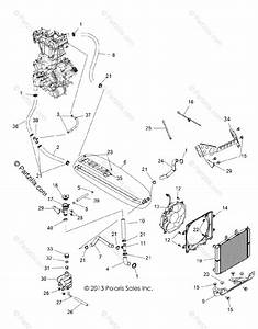 Polaris Side By Side 2016 Oem Parts Diagram For Engine  Cooling System