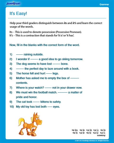 it s easy view free grammar worksheet for 3rd grade