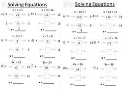 solving equations  baconeducation teaching resources