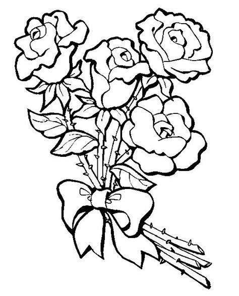 coloring pages  roses coloring pages  print