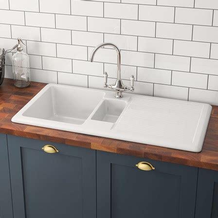 ceramic kitchen sink with drainer butler 1 5 bowl white ceramic kitchen sink with 8090