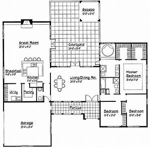 Single Story Spanish House Plans Single Story Small House ...
