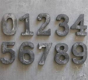 house numbers antique farmhouse With small metal numbers and letters