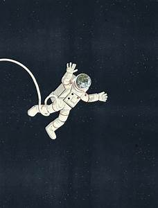 Floating Astronaut Drawing (page 3) - Pics about space