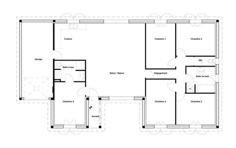 plan maison en l 4 chambres trendy plan maison chambres m with plan de maison 4 chambres