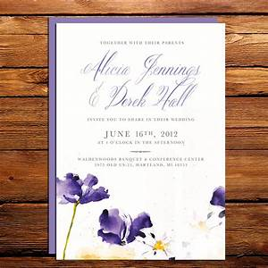 watercolor wedding invitations handmade weddings by etsy With most popular wedding invitations on etsy