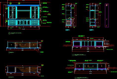 media wall unit dwg section  autocad designs cad