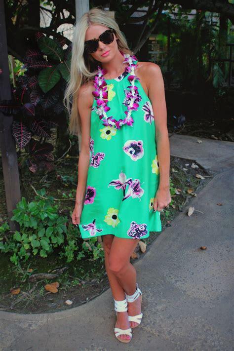 floral luau dress dress  pinterest luau dress