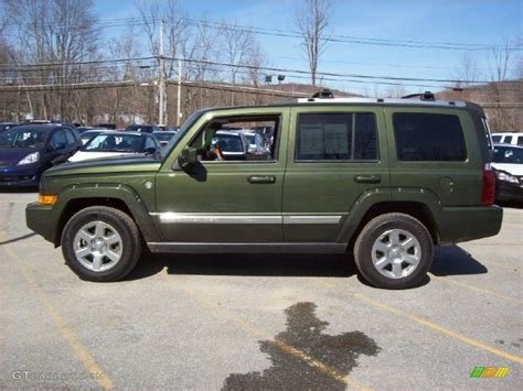 jeep metallic jeep green metallic 2007 jeep commander overland 4x4