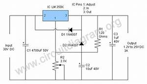 1 2v To 25v  3a Variable Power Supply Using Lm350