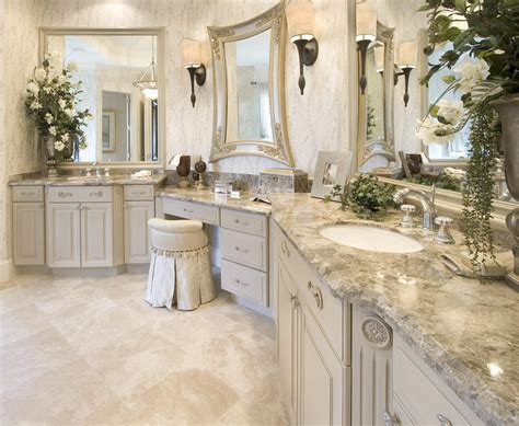 Master Bathroom Vanity With Makeup Area by Custom Bathroom Countertops Custom Bathroom Vanity