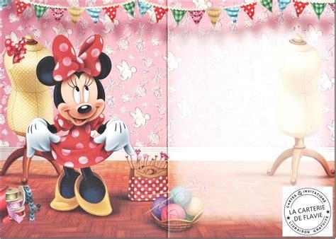 Carte De Voeux Disneyland by Carte Anniversaire Disney Minnie Livraison Gratuite