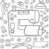 Sewing Coloring Google sketch template