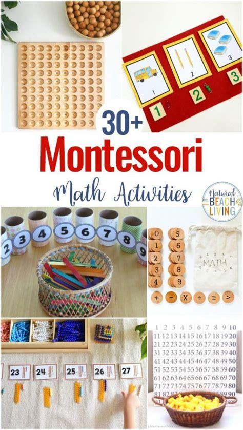 montessori math activities  preschool