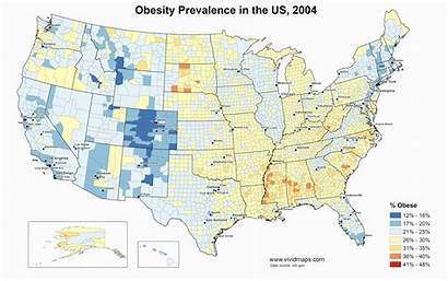 Obesity United States Prevalence Vivid Maps