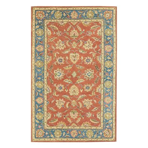 4 foot area rugs home decorators collection terra blue 4 ft x 6