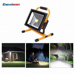 W portable rechargeable led flood spot light outdoor