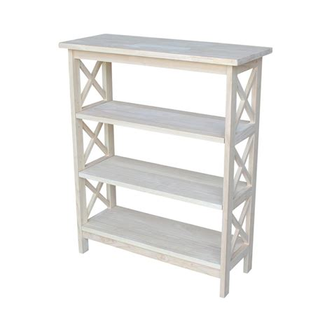 Unfinished Bookcase by International Concepts Unfinished Open Bookcase Sh 3630x