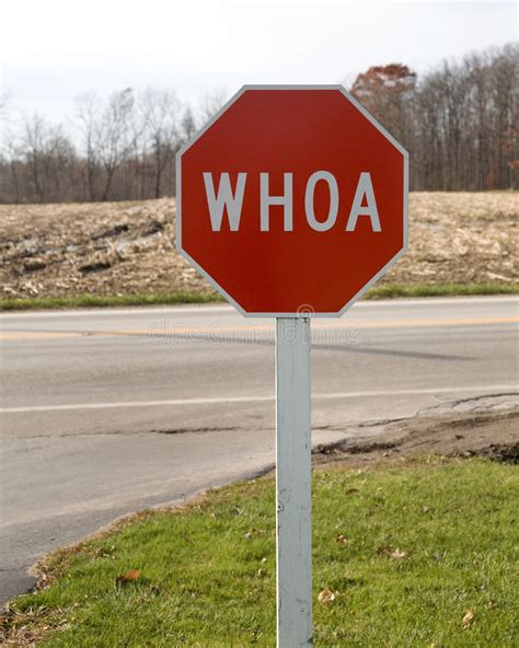 Whoa Stop Sign Stock Image Image Of Road Traffic