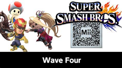 Viridi, Toad, & C. Falcon Mii Fighter Qr Codes For Smash