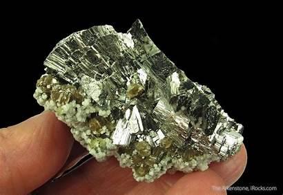 Arsenopyrite Mineral Specimen Siderite Portugal Minerals Calcite