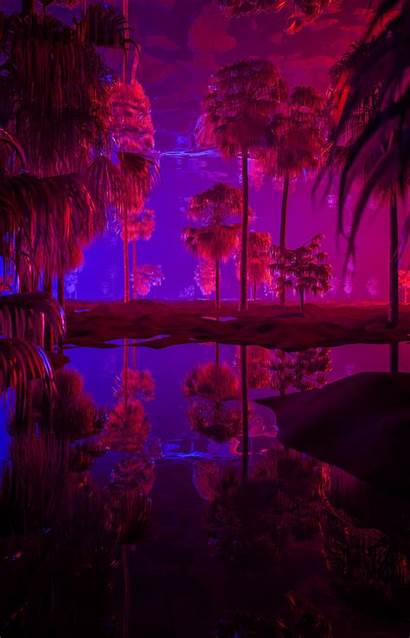 Aesthetic Flyer Neon Sub Wallpapers Forest Purple