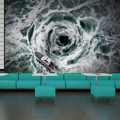 ocean whirlpool storm wall mural wallpaper