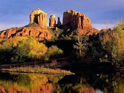 Arizona Sedona Background Backgrounds Cathedral Rock Desktop