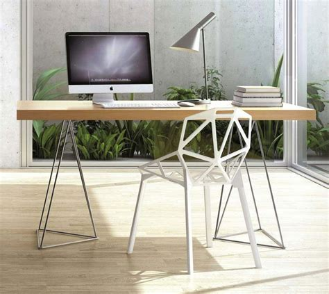 bureau treteaux 41 idées déco de tréteaux pour créer une table ou un bureau