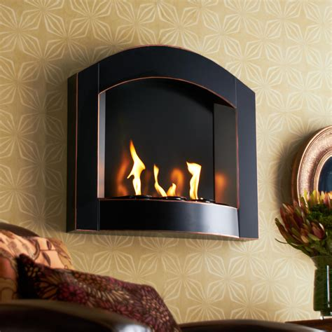 Kamin Wand by Sei Black Arch Top Wall Mount Gel Fuel