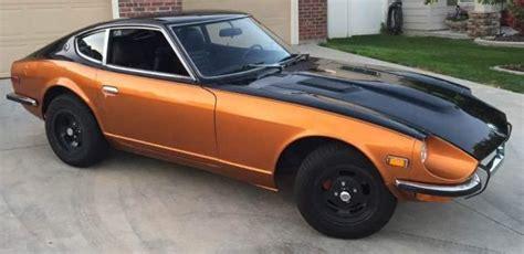 Black Datsun 240z by Black And Sunset Burnt Orange 1972 Datsun 240z