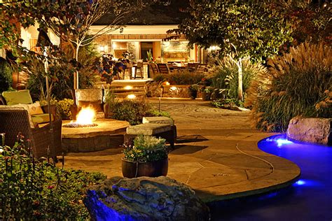 Flagstone and Boulder Terraces, Pool House, Outdoor